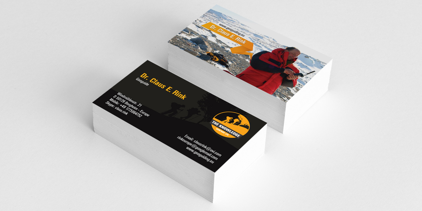 The Knowledge Business card Design