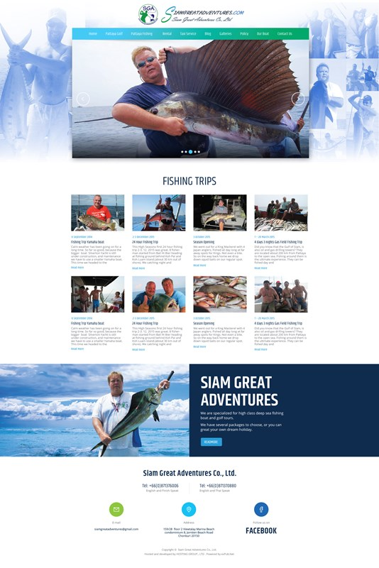Web Design-Portfolio - Siamgreat Adventures
