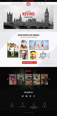 Web Design-Portfolio - KEVIN CANVAS PRINTS