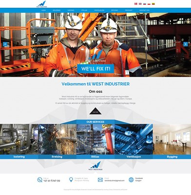 Web Design-Portfolio - West Industrier
