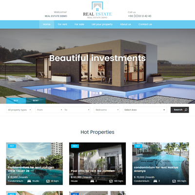 real estate template websites